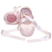 Mode bébé filles rose violet abricot rouge couleur unie gymnastique toile Ballet chaussures de danse semelle en daim fendu avec ruban