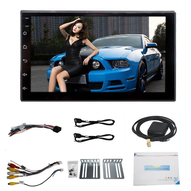 7 zoll 2 Din Android 8.0 Auto Multimedia Universal Player Auto Gps Navigation Integriert Maschine Smart 2.5D Gehärtetem Bildschirm Blueto