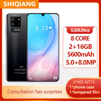 Global Version S30Ultra 2GB+16GB Face ID Cell Phone 6.3Inch Full Screen Octa Core Mobile Phone 5600mAh 5+8MP Android Smartphones