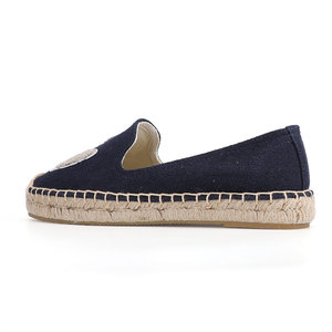 Image 5 - 2020 Real Zapatillas Mujer Platform Flat Fishermen 2019 Sapatos Lady Casual Rubber Outsole Off duty Days Flax Straw Thick Soled