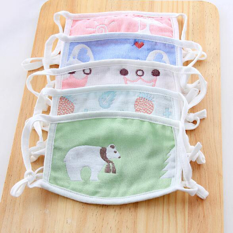 Mouth Face Mask For Kids Anti-Dust Disposable Fabric Masks With Respiration
