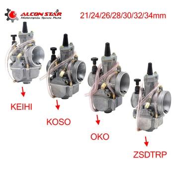 Carburador de motocicleta Alconstar- 21 24 26 28 30 32 34mm con chorro de potencia para Keihin PWK KOSO OKO 75cc-250CC 2T/4T motor para KTM