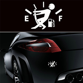 Funny Car Sticker Pull Fuel Tank Cover Pointer Full Hellaflush Reflective Car Vinyl Decal Sticker Fuel EF Car Sticker image