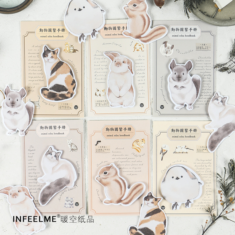 30sheets/pack Cute Cartoon Cats Sticky Notes Memo Pad School Supplies Planner Stickers Paper Bookmarks Korea Stationery