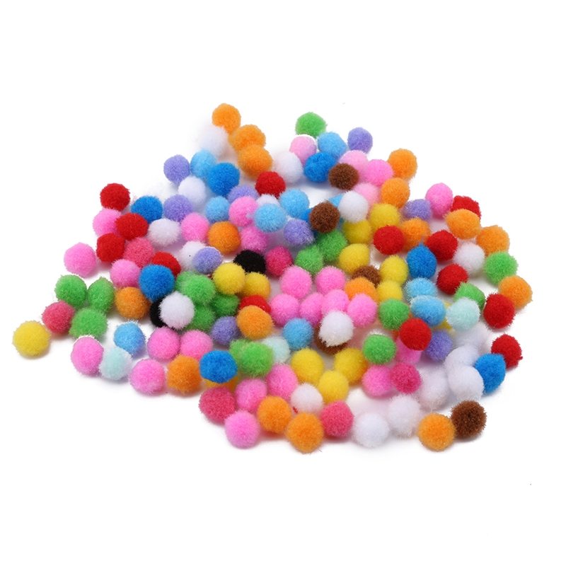 1000 Pompom Diameter 10mm MultiColor Fur Craft DIY Soft Pom Poms Balls Wedding Decor Sewing Cloth Ball For DIY Kids Toys