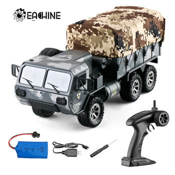 Eachine EAT01 1/16 2.4G 6WD RC Car Proportional Control US Army Military Off Road Rock Crawler Truck RTR W/ Several Battery
