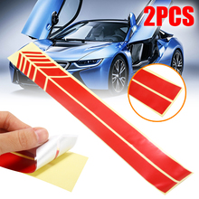 2pcs 30.5*2CM Rear View Mirror Stickers Car Styling Car Sticker Rearview Mirror Side Decal Stripe Car Accessories 7 7cm 12 2cm 3 crosses with john 3 16 christian jesus car stickers car styling and accessories black sliver c8 1277