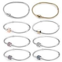 100% Hoge Kwaliteit Mode Echt Momenten Gouden Gesp Armband Rose Gesp Armband Prachtige Diy Sieraden Cadeau Voor Vrouwen