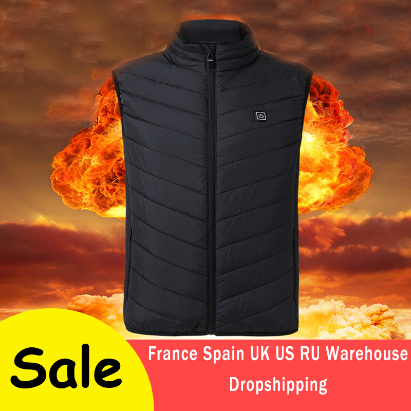 Outdoor Electric Heated Vest USB Heating Vest Outdoor Winter warm men women Clothing Camping Hunting Hiking Jacket