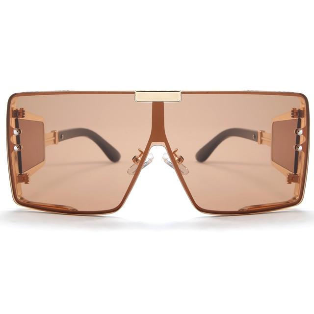 Peekaboo one piece shield sunglasses unisex heavy uv400  2