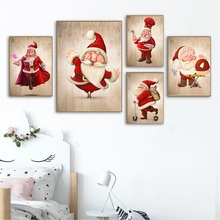 New Arival 5d Diamond Painting Santa Claus Embroidery Christmas Full Round Rhinestones Decor for Home