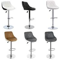 2pcs Bar Chair Synthetic Swivel Bar High Stool Adjustable Lift Stool Home Bar Furniture Useful Chairs Home Office Kitchen Chairs