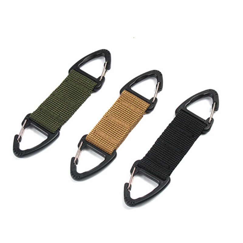 Carabiner High Strength Nylon Key Hook Clip Webbing Buckle Hanging System Belt Buckle Hanging Camping And Hiking Accessories