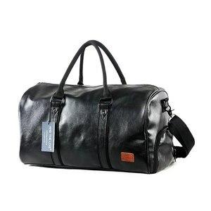 Leather Gym Bags Men PU Travel Crossbody