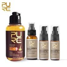 Fast Growth Hair Essence Oil Prevent Hair Loss Treatment and Growth Hair Spray and Thicken Hair Shampoo Set