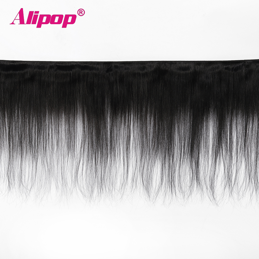 Image 2 - Alipop Hair Peruvian Straight Hair Bundles Human Hair Bundles 3 Bundle Deals Double Weft Remy Hair Extension Natural Color-in Hair Weaves from Hair Extensions & Wigs