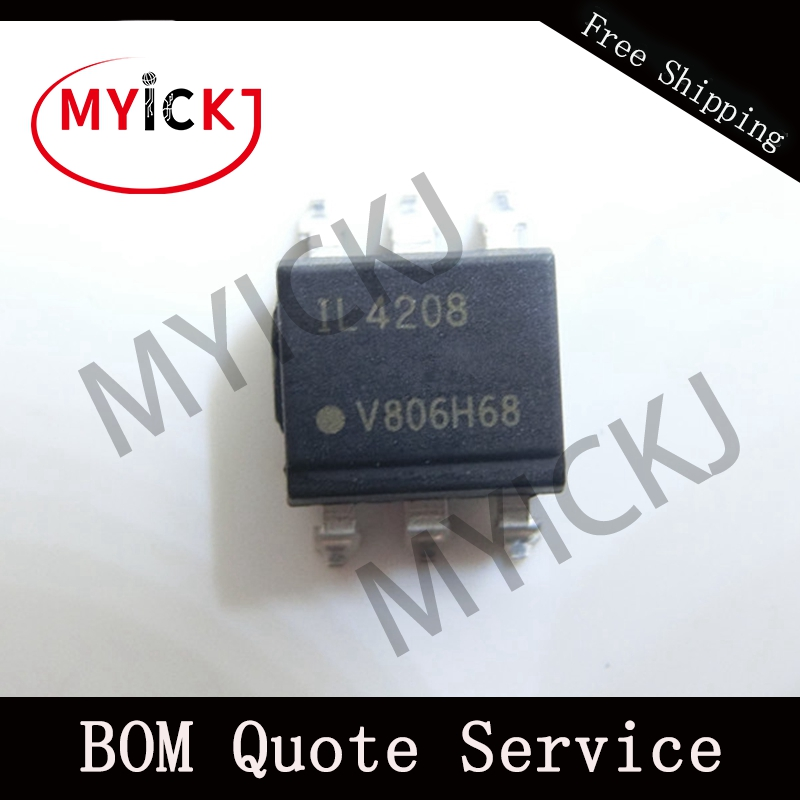 5PCS IL4208 SOP6   Optocoupler, Phototriac Output, High DV/dt, Low Input Current IC CHIP