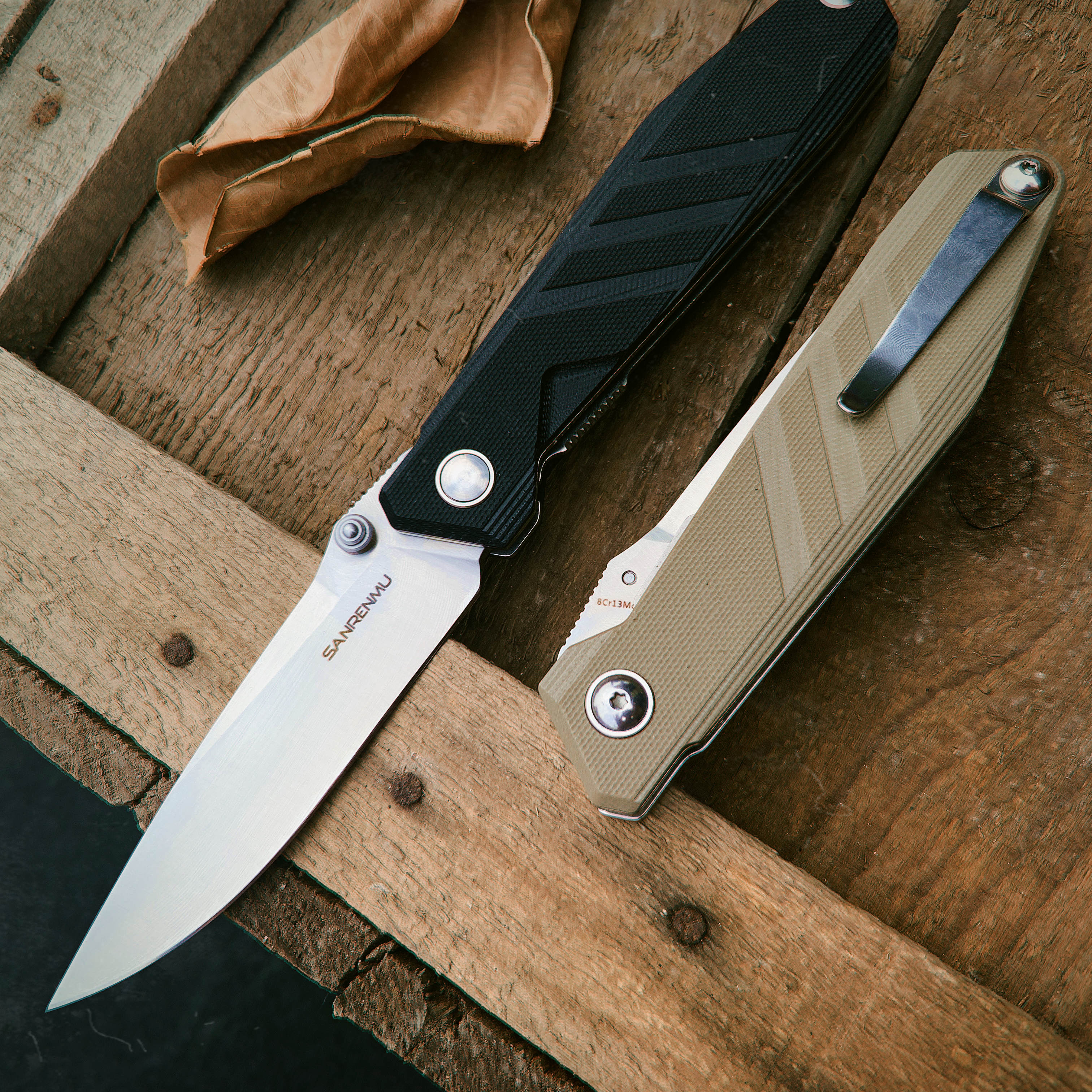 SANRENMU SRM 1158 Pocket Folding Blade Knife 8cr13 Steel Blade Edc Outdoor Camping Hunting Survival Fishing Tool