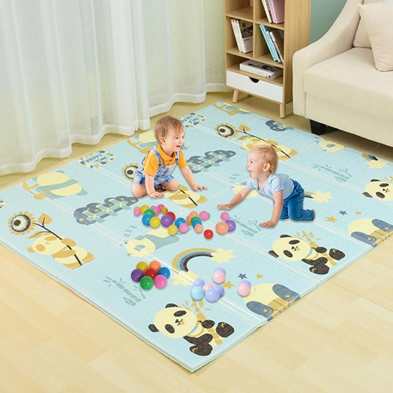 Tapis de jeu bébé motif infantile tapis rampant tapis pliant XPE Puzzle tapis tapis jeu éducatif doux bébé tapis de literie jouet pour les enfants