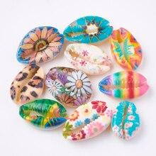 Цветные бусины в виде раковины Cowrie, без отверстий, для самостоятельного изготовления ювелирных аксессуаров, ожерелий и браслетов, 200 шт.