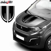 Für Peugeot Reisenden Auto Haube Motorhaube Streifen Racing Sport Styling Aufkleber Motor Abdeckung Decor Vinyl Aufkleber Auto Körper Zubehör