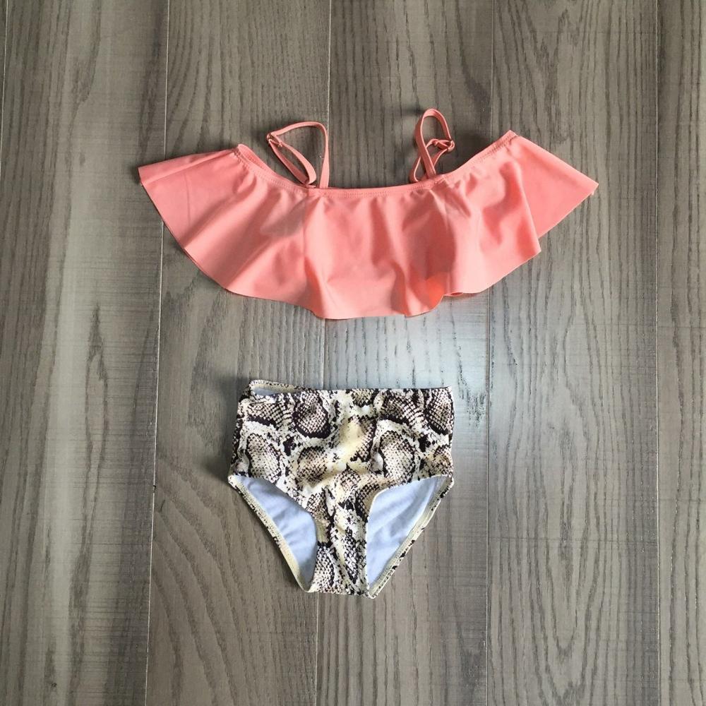 Mom Daughter Swimsuit Baby Girl Snakeskin Pattern Swimsuit Mom Me Summer Fashionable Swimsuit
