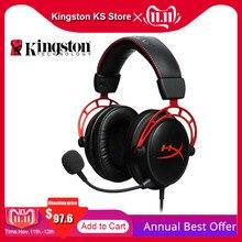 Оригинальная kingston HyperX Cloud Alpha E sports игровая гарнитура ПК PS4 Xbox Mobile наушники проводные gaming