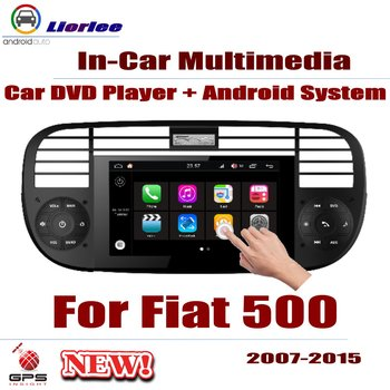 Car Android System RockChip PX5 1080P IPS LCD Screen For Fiat 500 / Abarth 500 2007~2015 DVD Player GPS Navigation BT WIFI SD