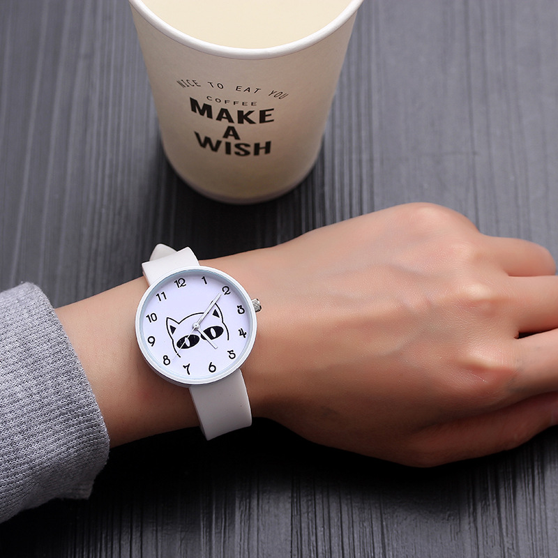 For School Student Wrist Watches For Young Boy Girl Quartz Clock Waterproof Kids Hour Cool Cat Children's Watch Cartoon XX3073