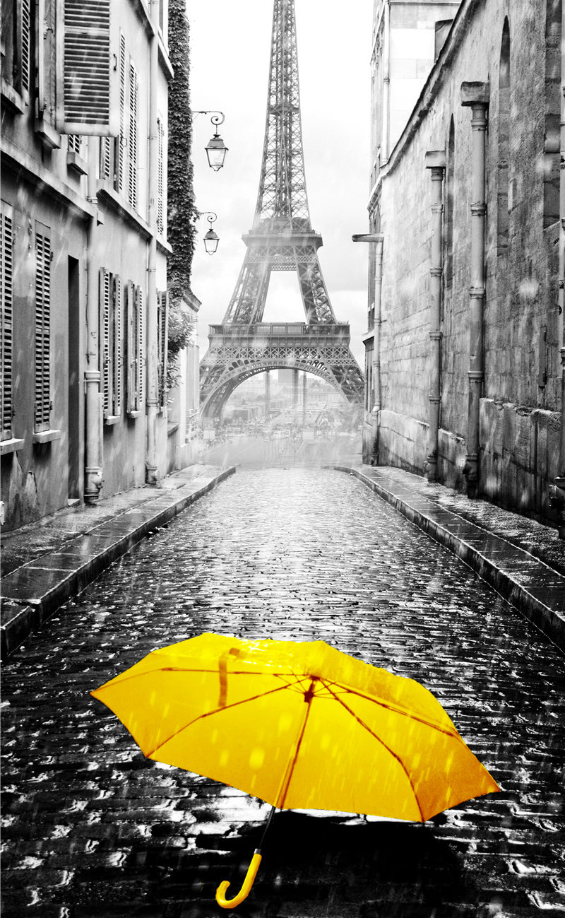 Europe City Scenery Yellow Retro Wall Art Poster Canvas Painting Home Decor