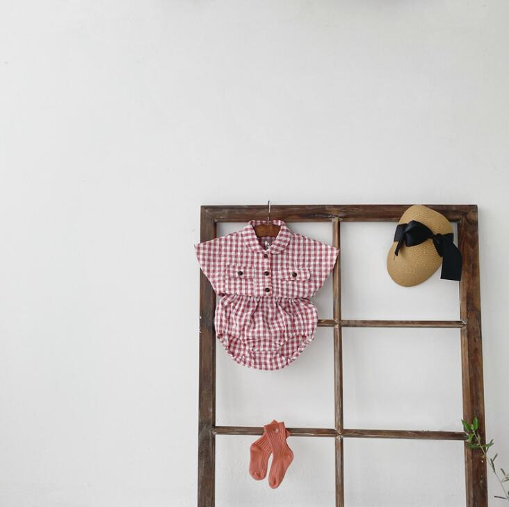 2020-new-baby-girls-2-pcs-plaid-set-shirt-shorts-fashion-summerbabys-cotton-girls-suit-6 (4)