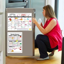 Calendar Fridge Magnetic Weekly-Planner-Sheet Message-Board-Pad Refrigerator Dry-Erase