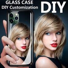 Nach maß DIY jede bild bild Glas Silikon Telefon Fall Für Vivo NEX 3 NEX3 NEX 3S Y89 Y17 y3 Y15 Y12 U10 U3X Y93 Y91C Y93S