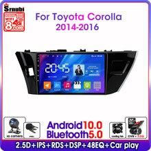 Android10.0 2din 4g rede wifi rádio do carro multimídia player de vídeo para toyota corolla ralink 2014-2016 gps navegação dsp rds ips