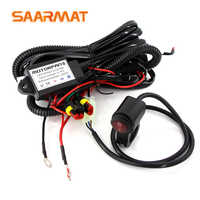 1 set Wiring Harness for Led motorcycle headlights Light Wire Cable Switch Relay Kit Motorcycle ATV Driving Light Flash Control