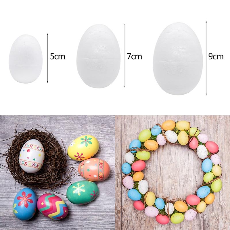 10pcs/lot 5/7/9cm Polystyrene Styrofoam Foam Egg Balls DIY Easter Eggs Ornament Handmade Material Kids Toys White Craft Supplies