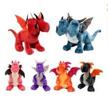 New arrival 35CM dinozaur dwugłowy zwierzęta wypchane pluszowe lalki Cartonn pluszowy smok dla dziecka prezent urodzinowy dla dzieci