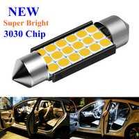 Festón 31mm 36mm 39mm 41mm C5W C10W C3W Super brillante 3030 LED Bombilla luz de techo de automóvil Canbus Lámpara de lectura Interior de coche blanco cálido