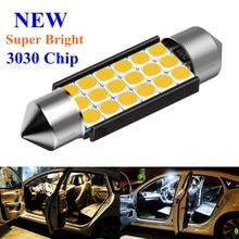 Festão 31mm 36mm 39mm 41mm C5W C10W C3W Super Bright 3030 Lâmpada LED Car Dome Luz canbus Auto Lâmpada de Leitura Interior Branco Quente