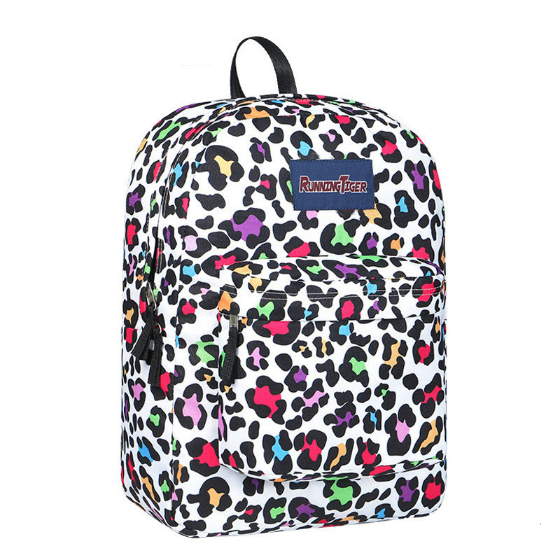 High Student School Bags For Teenagers Girls Bagpack Fashion Leopard Printing Backpacks For Women Children Schoolbag Back Pack