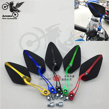 colorful moto rear view mirrors motorbike parts motocross ATV Off-road electrical scooter accessories motorcycle rearview mirror