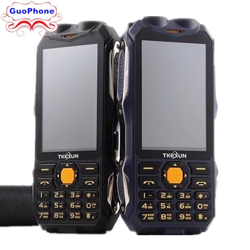 TKEXUN Q8 Power Bank Phone Dual SIM Card Analog TV Dual SIM Card Senior Dual Flashlight Speaker 3.2Inch Touchscreen Phone