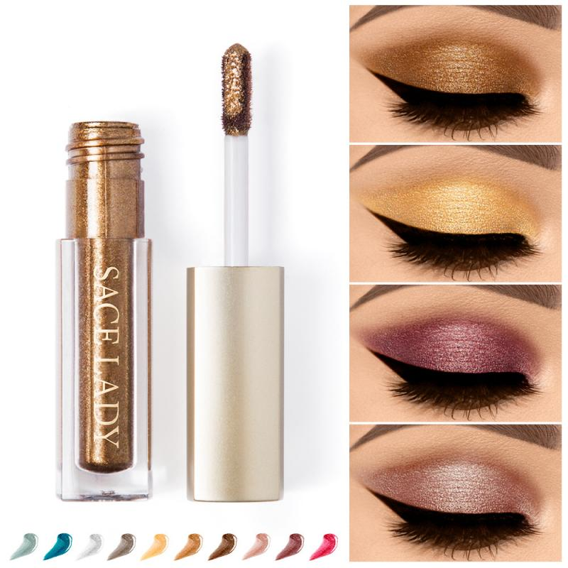 SACE LADY Glitter Eyeshadow Makeup Liquid Shimmer Eye Shadow Metals Illuminator Glow Kit Make Up Highlighter Cream Cosmetic STLM 1