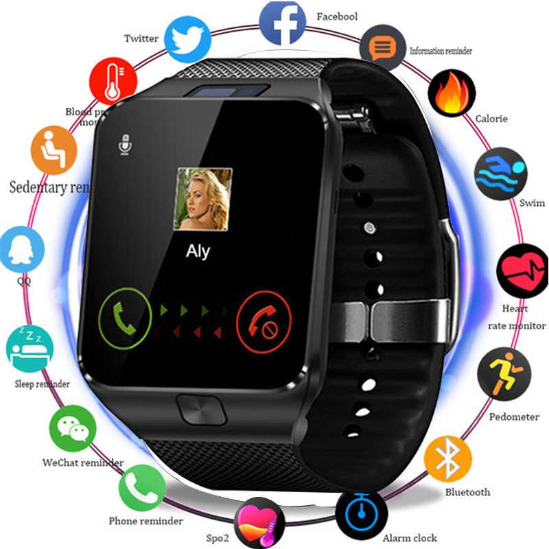 ใหม่แฟชั่นนาฬิกาสมาร์ทบลูทูธ Smartwatch พร้อมซิมการ์ด Solt TF Card Passometer สายรัดข้อมือนาฬิกาสำหรับ Android IOS โทรศัพท์สมาร์ทนาฬิกาผู้ชาย