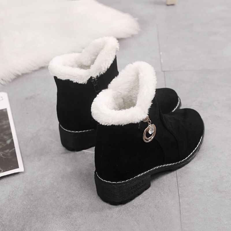 Booties female 2018 autumn and winter new Korean version with thick platform women's boots wild high-top shoes women plus velvet