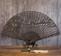 Sandalwood Fan Arts And Crafts Folding Fan Classical Sandalwood Fan In National Customs Gift Fan Wenwan Suzhou