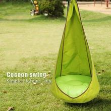 Swing Pod Children Roof Hammock Chair Outdoor Casual Kids Pod Hanging Swing Seat Child Hammock Chair Comfortable Indoor Tree