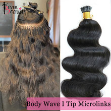 Hair-Extensions Virgin-Hair Microlinks Ever Beauty Natural 100%Human-Hair Brazilian Body-Wave-I-Tip
