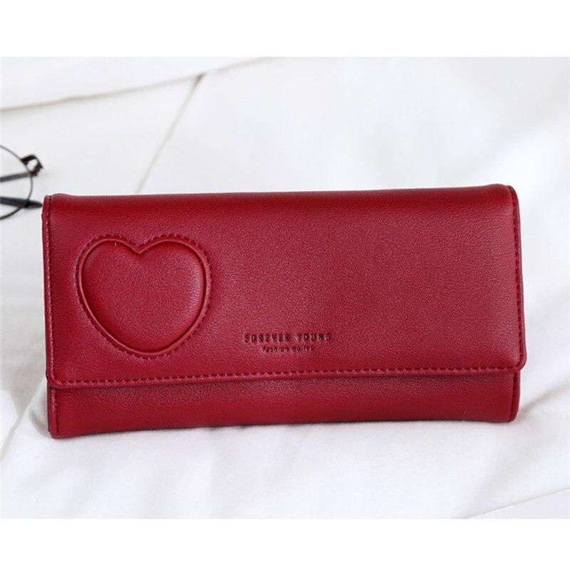 Women Wallets Small Fashion Women Card Bag For Women Clutch Women Female Solid Simple Purse Wallet Heart-shaped Print Money Clip
