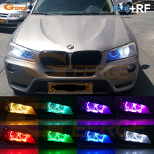 For BMW X3 F25 2010 2011 2012 2013 2014 HALOGEN HEADLIGHT Excellent Multi-Color Ultra bright RGB LED Angel Eyes kit for volkswagen vw scirocco 2008 2009 2010 2012 2013 halogen headlight excellent multi color ultra bright rgb led angel eyes kit